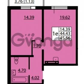 Продается квартира 1-ком 44.43 м² улица Дыбенко 6, метро Улица Дыбенко