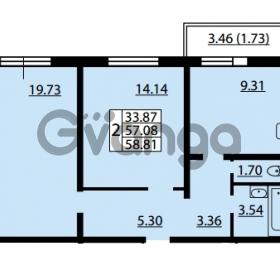 Продается квартира 2-ком 57.08 м² улица Дыбенко 6, метро Улица Дыбенко