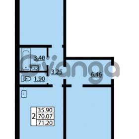 Продается квартира 2-ком 70.07 м² улица Дыбенко 6, метро Улица Дыбенко
