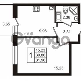 Продается квартира 1-ком 30.86 м² Европейский проспект 14, метро Улица Дыбенко