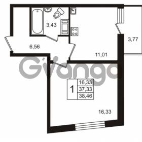 Продается квартира 1-ком 37.33 м² Европейский проспект 14, метро Улица Дыбенко