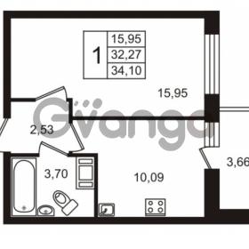 Продается квартира 1-ком 32.27 м² Европейский проспект 14, метро Улица Дыбенко
