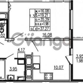 Продается квартира 1-ком 35.29 м² проспект Энергетиков 9, метро Ладожская