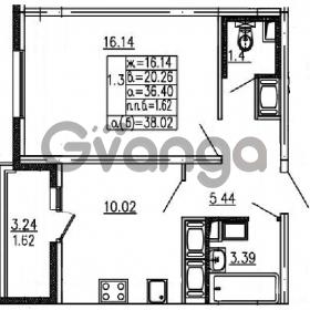 Продается квартира 1-ком 36.4 м² проспект Энергетиков 9, метро Ладожская