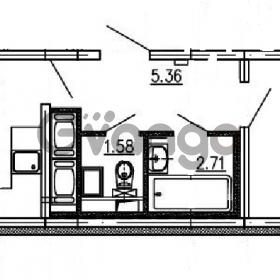 Продается квартира 1-ком 39.66 м² проспект Энергетиков 9, метро Ладожская
