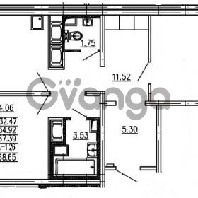Продается квартира 2-ком 67.39 м² проспект Энергетиков 9, метро Ладожская