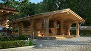 Строительство домов бань с дикого сруба