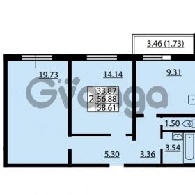 Продается квартира 2-ком 56.88 м² улица Дыбенко 6, метро Улица Дыбенко