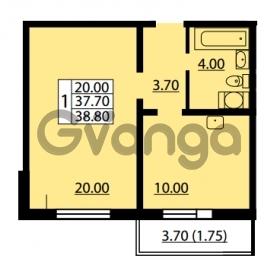 Продается квартира 1-ком 37.7 м² улица Дыбенко 6, метро Улица Дыбенко