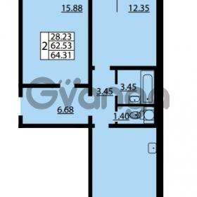 Продается квартира 2-ком 62.53 м² улица Дыбенко 6, метро Улица Дыбенко
