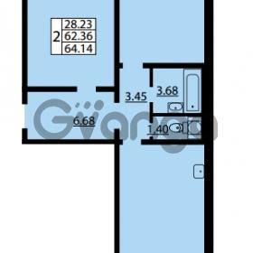 Продается квартира 2-ком 62.36 м² улица Дыбенко 6, метро Улица Дыбенко