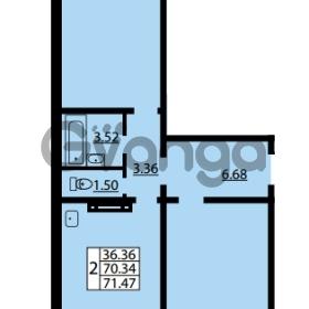 Продается квартира 2-ком 70.34 м² улица Дыбенко 6, метро Улица Дыбенко