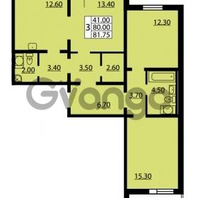 Продается квартира 3-ком 80 м² улица Дыбенко 6, метро Улица Дыбенко