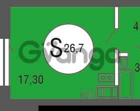 Продается квартира 1-ком 26.7 м² улица Шувалова 4