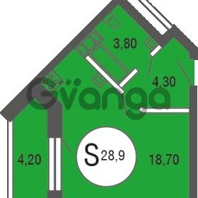 Продается квартира 1-ком 28.9 м² улица Шувалова 4