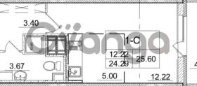 Продается квартира 1-ком 24.29 м² улица Пионерстроя 29, метро Проспект Ветеранов
