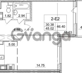 Продается квартира 1-ком 45.02 м² улица Пионерстроя 29, метро Проспект Ветеранов