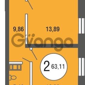 Продается квартира 2-ком 63.11 м² улица Шувалова 4, метро Девяткино