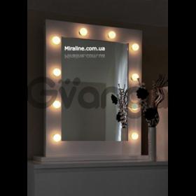 Зеркало для макияжа с подсветкой, гримерное зеркало Азурит