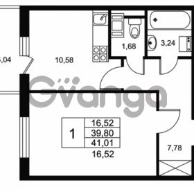 Продается квартира 1-ком 39.8 м² Комендантский проспект 53к 1, метро Комендантский проспект
