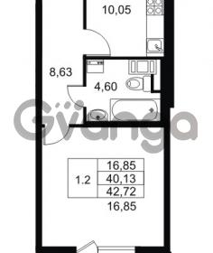 Продается квартира 1-ком 40.13 м² Комендантский проспект 53к 1, метро Комендантский проспект