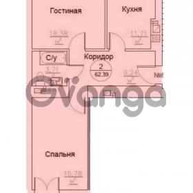 Продается квартира 2-ком 62 м² Генерала Челнокова