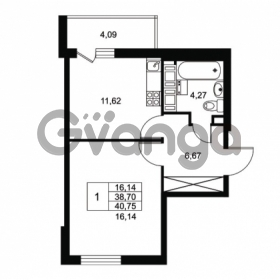 Продается квартира 1-ком 38.7 м² Комендантский проспект 53к 1, метро Комендантский проспект