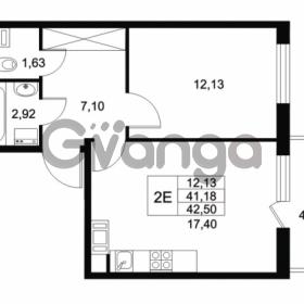 Продается квартира 1-ком 41.18 м² Комендантский проспект 53к 1, метро Комендантский проспект