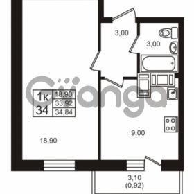 Продается квартира 1-ком 33.92 м² проспект Авиаторов Балтики 3, метро Девяткино