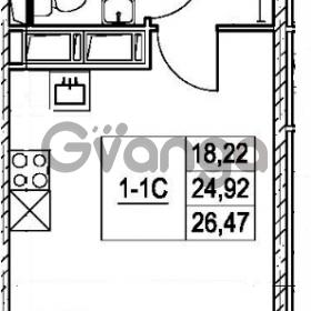 Продается квартира 1-ком 24.92 м² улица Шувалова 7, метро Девяткино