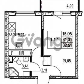 Продается квартира 1-ком 31.31 м² улица Шувалова 7, метро Девяткино