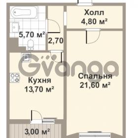 Продается квартира 1-ком 42.9 м² проспект Медиков 10, метро Петроградская