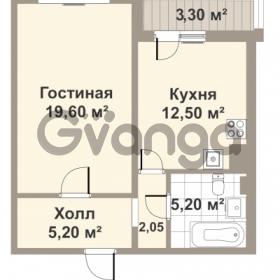 Продается квартира 1-ком 45.9 м² проспект Медиков 10, метро Петроградская