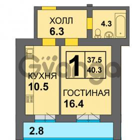 Продается квартира 1-ком 41 м² Старшины Дадаева