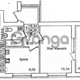 Продается квартира 1-ком 38 м² новикова