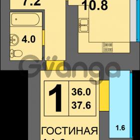 Продается квартира 1-ком 37 м² Дадаева