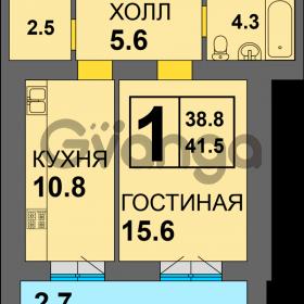 Продается квартира 1-ком 41 м² Дадаева