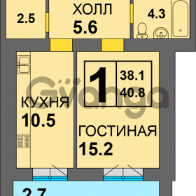 Продается квартира 1-ком 40 м² Дадаева