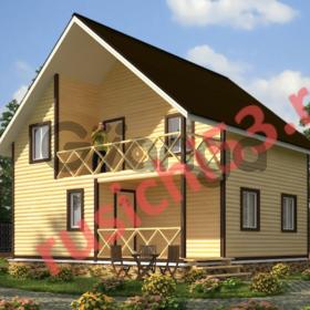 Дом из профилированного бруса - 127м2