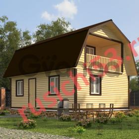 Дом из профилированного бруса - 85м2