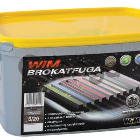 Затирка для швов WIM BROKAT декоративная с блёстками, цементная 2 кг, Польша