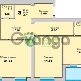 Продается квартира 3-ком 95 м² Приморская