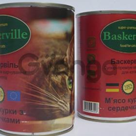 """Консерва """"Baskerville"""" для котов в ассортименте 400 г"""