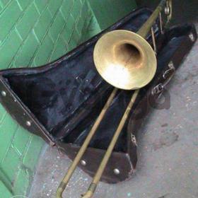 Тромбон MADE IN GDR Германия.  Киев.