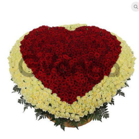 """Цветы букет """"Мое сердце - тебе"""""""