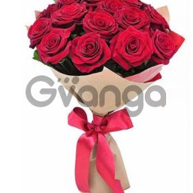 Цветы букет 15 красных роз