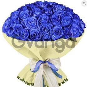 Цветы букет 51 синяя роза