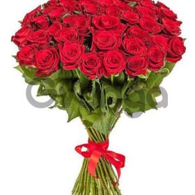 Цветы букет 51 красная роза Эквадор