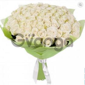 Цветы букет 51 белая роза