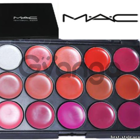Палитра помад помады 15 цветов MAC - блески Mac Cosmetics 15 оттенков